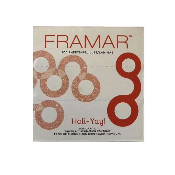 FRAMAR Holi-Yay Fogli Alluminio Bicolore Pre-Tagliati 5x11 500pz