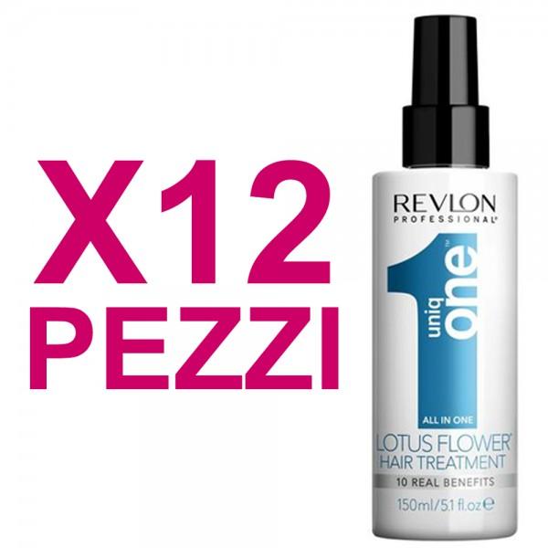 UNIQ ONE Kit All In One Hair Treatment Lotus Flower 12 Pezzi x 150ml
