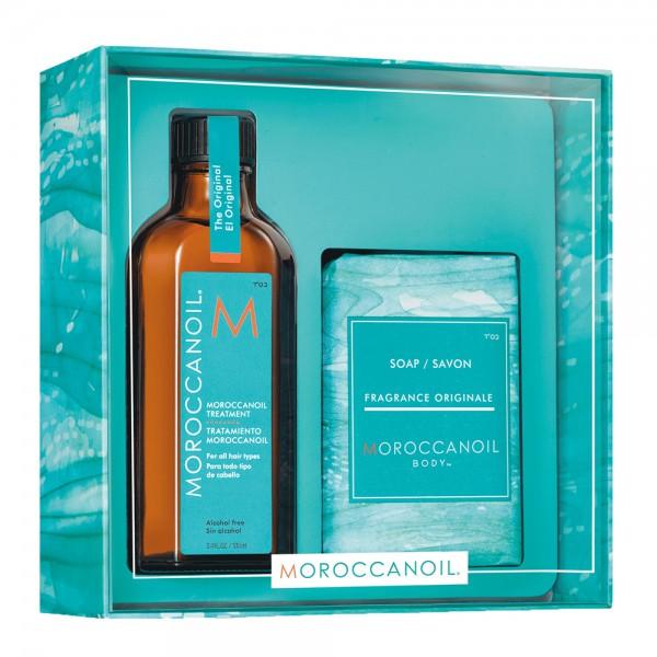 MOROCCANOIL Kit Home & Away Treatment 100ml + Soap 200gr