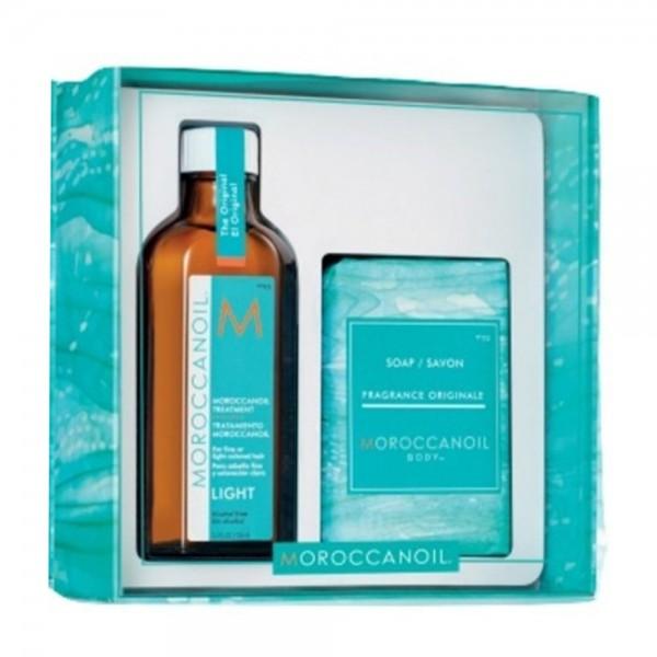 MOROCCANOIL Kit Home & Away Treatment Light 100ml + Soap 200gr