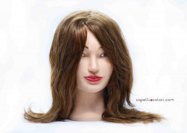 Testina Studio Femminile 35cm 100% capelli naturali Biondo