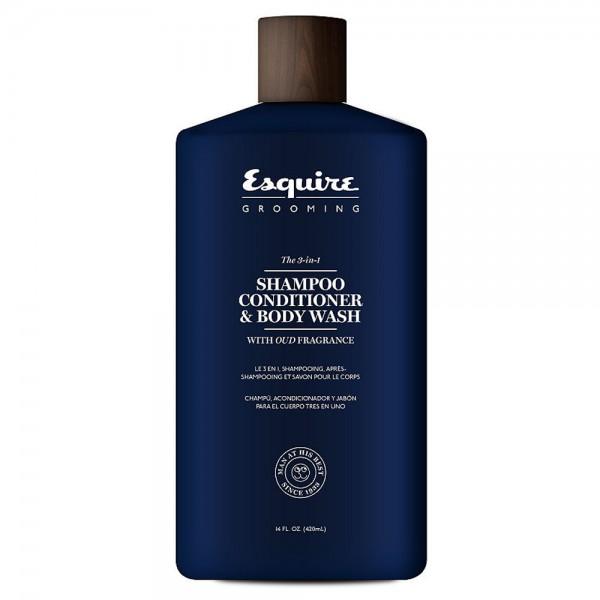 ESQUIRE The 3 in 1 Shampoo Conditioner & Body Wash 414ml